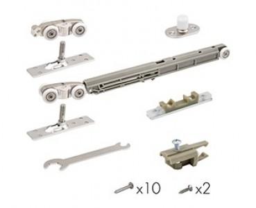 Комплект для раздвижных дверей Comfort - PRO SET 3 /soft close+roller/ 80 (CFA170B)