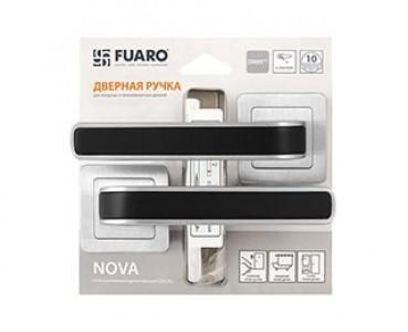 Ручка раздельная NOVA XM/HD SSC/BL-16 сатин хром/черный