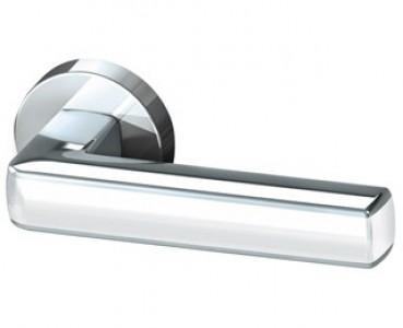 Ручка раздельная CUBE URB3 CP/White-14 Хром/белый