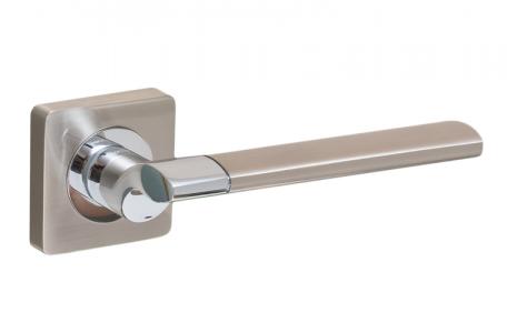 Ручки дверные PRO-ZQ Capri SN/CP матовый никель/хром