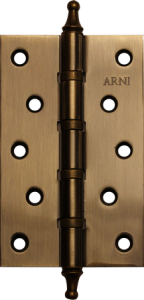 Дверная Петля врезная универсальная с короной Arni 125*75*2.5C AB