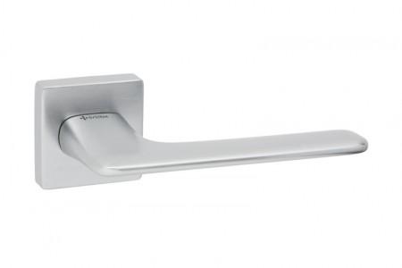 Ручки дверные SYSTEM NIX SQ CBMX брашированный матовый хром