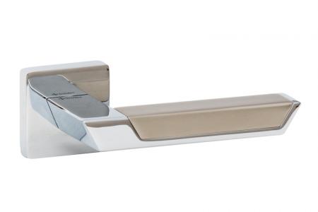 Ручки дверные PANDORA SQ CR/CR/NBM хром/хром/матовый никель