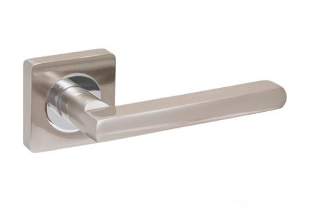 Ручки дверные PRO-ZQ Merano SN/CP матовый никель/хром