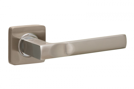 Ручки дверные ZQ Nord SN/CP матовый никель/хром