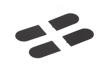 Накладка на  скрытую петлю ECLIPSE 3.0 (черный), материал - полимер