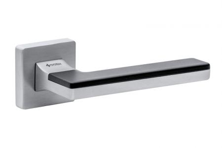 Ручки дверные LARISSA SQ CBM/CBM/AL6 матовый хром/матовый хром/черный матовый