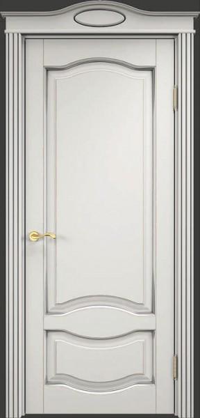 ОЛ33 Белый грунт, патина серебро, микрано