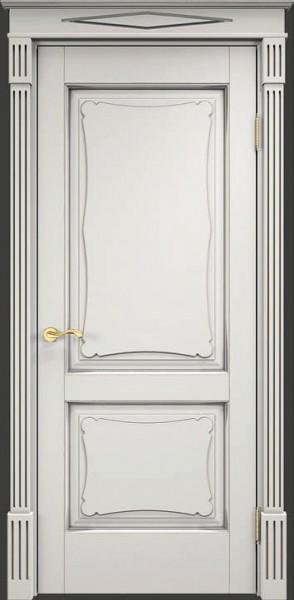 ОЛ6/2 Белый грунт, патина серебро, микрано