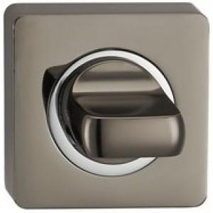 Дверная Завертка сантехническая квадратная BN/CP