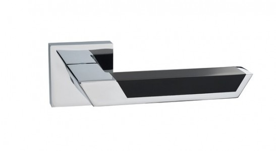 Ручка дверная Атриум PC black ( глянцевый хром/черный)