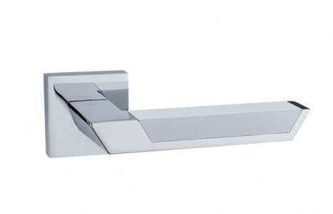 Ручка дверная Атриум PC white (глянцевый хром/белый)