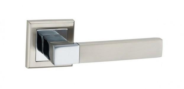 Ручка дверная Бари SN/CP (мат никель/ хром)