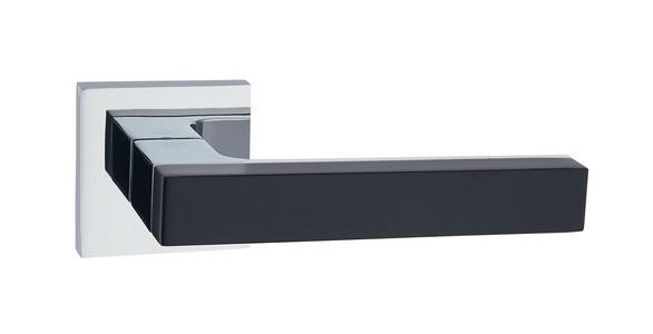 Ручка дверная Бридж CP BL (хром/черный)