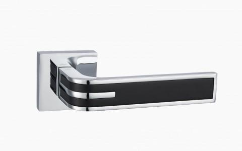 Ручка дверная Фреско PC/Black (хром/черный)
