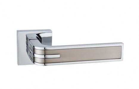 Ручка дверная Фреско SN/PC (мат никель/хром)