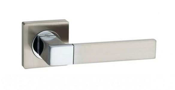 Ручка дверная Камилла SN/CP (мат ник/хром)