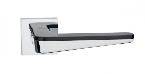 Ручка дверная Капелла PC/Black (Хром/черный)