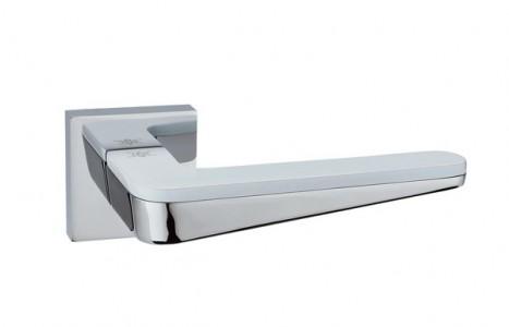 Ручка дверная Капелла PC/ White (хром/белый)
