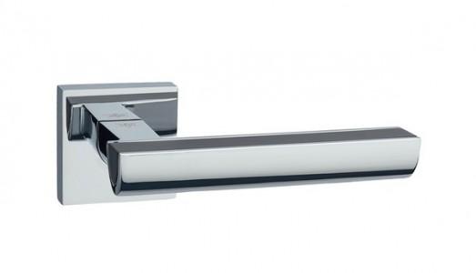 Ручка дверная Каскад BL/PC (черный/хром)