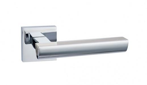 Ручка дверная Каскад SN/PC (мат ник/ хром)