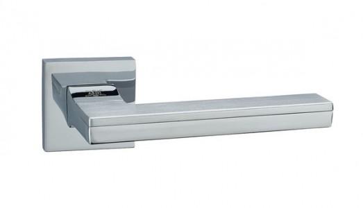 Ручка дверная Квадро SC/CP (мат хром/хром)