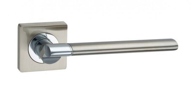 Ручка дверная Марчелло SN/CP (мат ник/хром)
