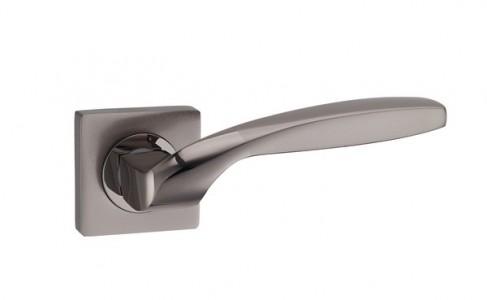 Ручка дверная Марта TB/STB (черный хром/матовый черный хром)