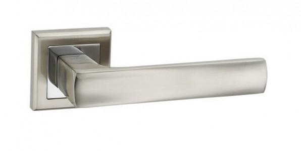 Ручка дверная Остия SN/CP (мат никель/хром)