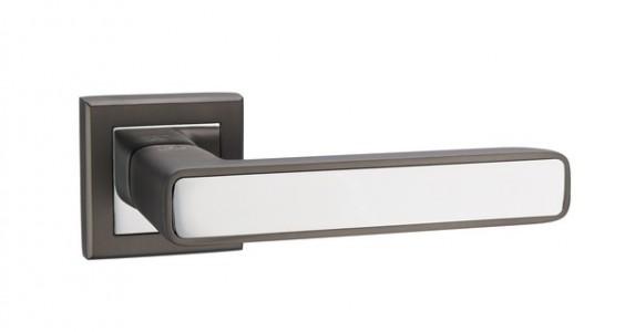 Ручка дверная Парма MBNB/CP (граффит/хром)