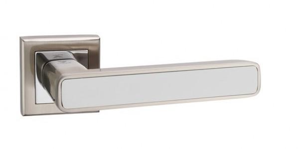 Ручка дверная Парма SN/CP/WH (мат никель/хром/белый)