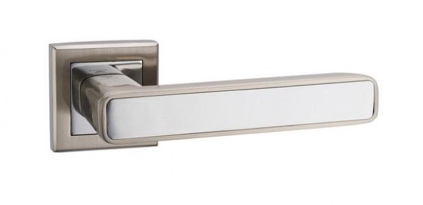Ручка дверная Парма SN/CP (мат никель/хром)