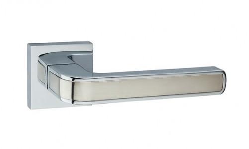 Ручка дверная Рико SN/CP (мат никель/хром)