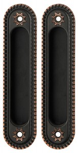 Ручка Armadillo SH010/CL ABL-18 для раздвижных дверей, темная медь