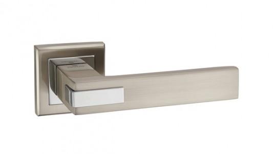 Ручка дверная Триест SN/CP (мат ник/хром)