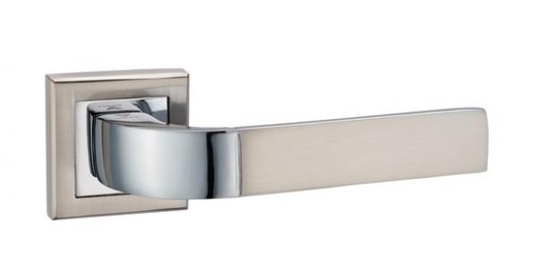 Ручка дверная Верона SN/CP (мат никель/хром)