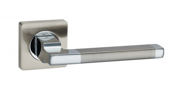 Ручка дверная Вито SN/CP (мат никель/хром)