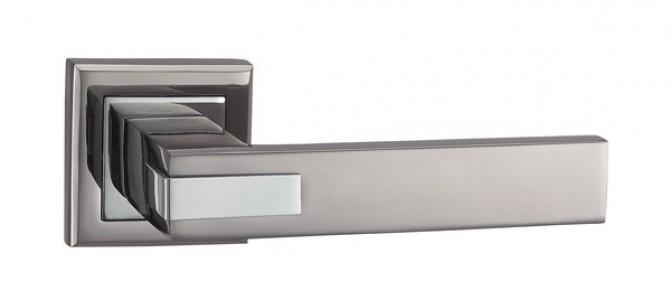 Ручка дверная Триест TB/CP (черныйхром/хром)